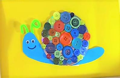 Schnecke Knopfbild selber machen_Basteln mit Kindern