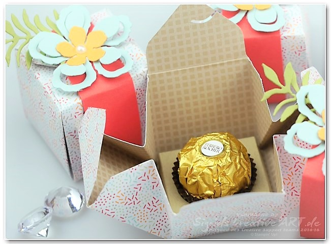 gift-box-punchboard-rocher-verpackung-Stamping up aus Papier Hand im GLück