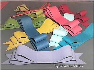 schleife-aus-papier-basteln Hand im Glück