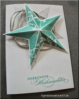 stern in 3D basteln zu Weihnachten