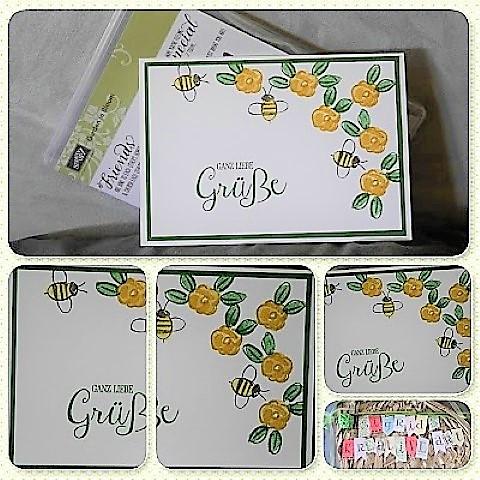 two-step-stamping-garden-in-bloom- Hand im Glück Grußkarte