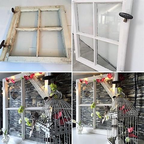DIY Deko Fenster in weiß
