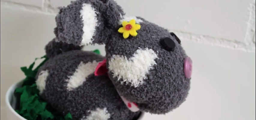 Hase aus Socke selber machen