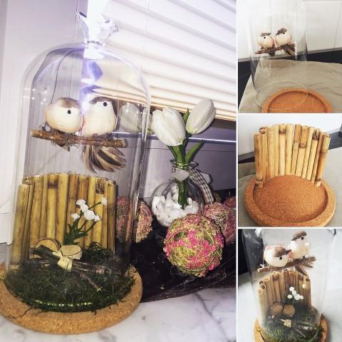Deko Vogel Glocke mit Naturmaterialien basteln_hand im glück