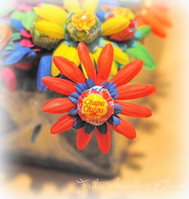 Lolliblumen für Kinder Hand im Glück