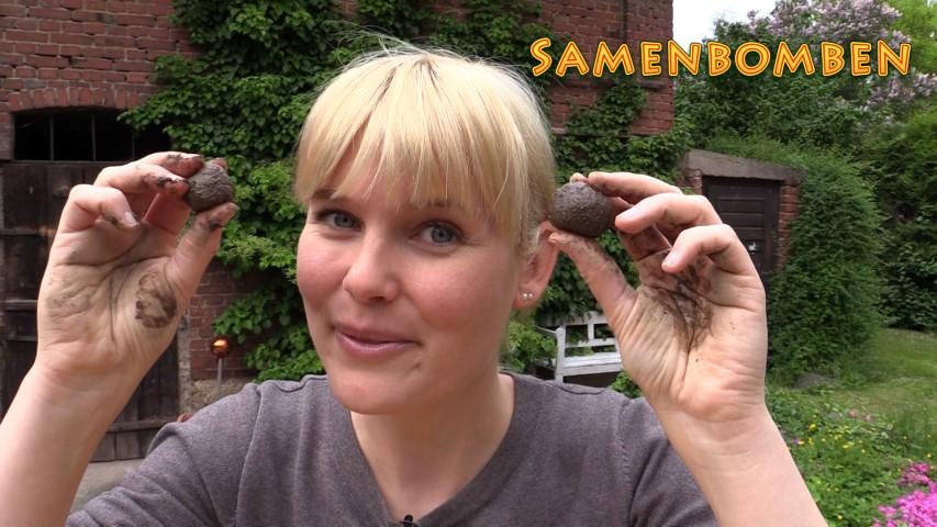 Samenbomben selber machen Garten & Balkon Blumen pflanzen Hand im Glück