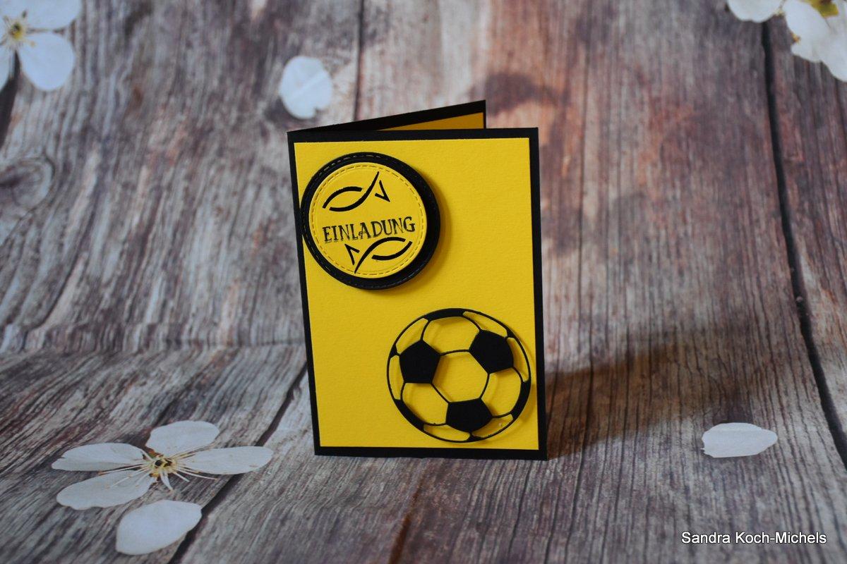 Einladungskarte für Fußball - Fans | Konfirmation/Kommunion
