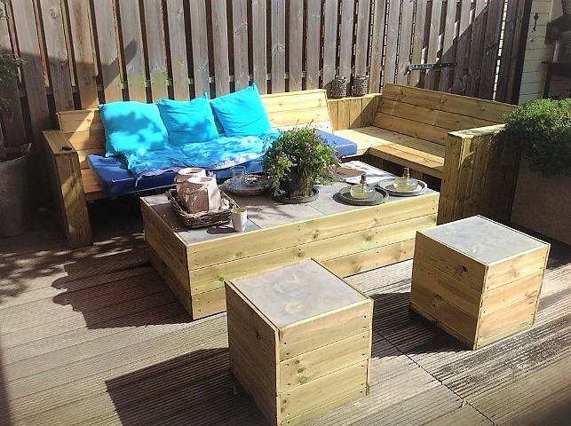 Gartenmoebel selber bauen Hand im Glueck