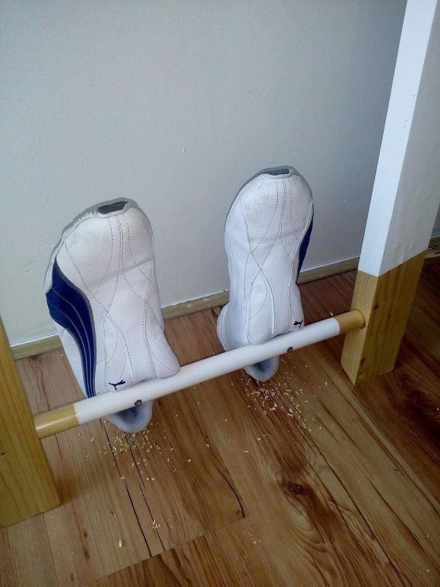 Kleidungsleiter selber bauen Hand im Glück (2)