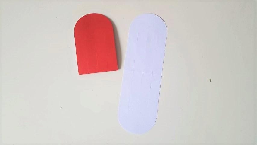 Herzanhänger selber basteln aus Papier Hand im Glück (