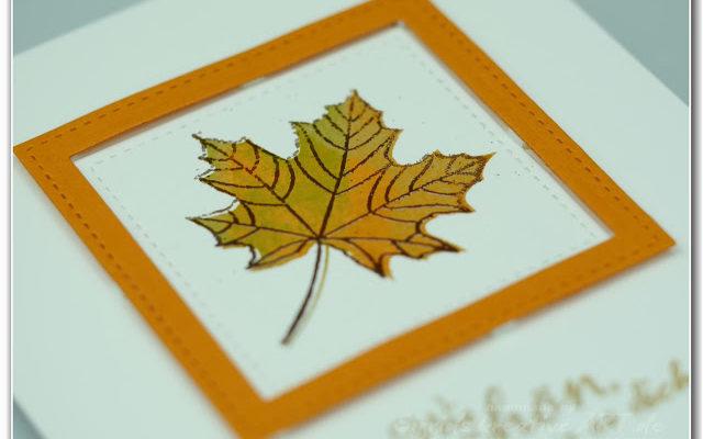 Karten im Herbstlook selber machen Hand im Glück