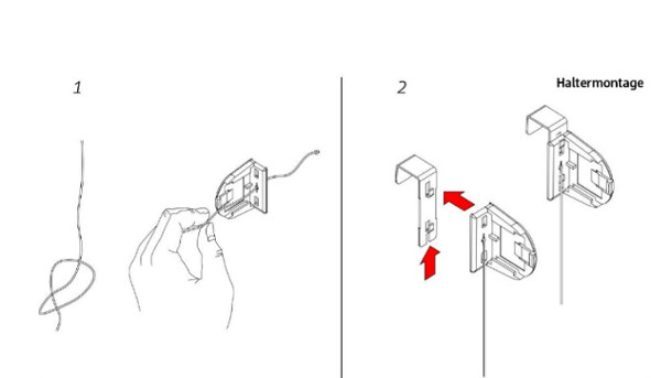 Thermorollo mit Kleppbrett befestigen Hand im GlücK Schritt_1_und_2