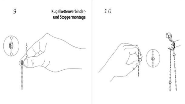Thermorollo mit Kleppbrett befestigen Hand im GlücK