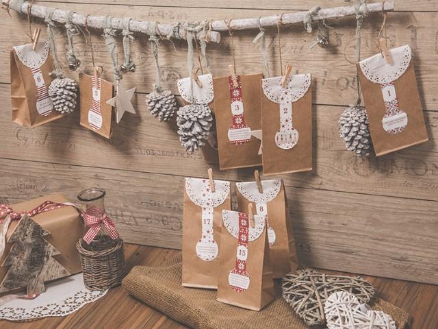 Adventkalender selber machen Hand im Glück