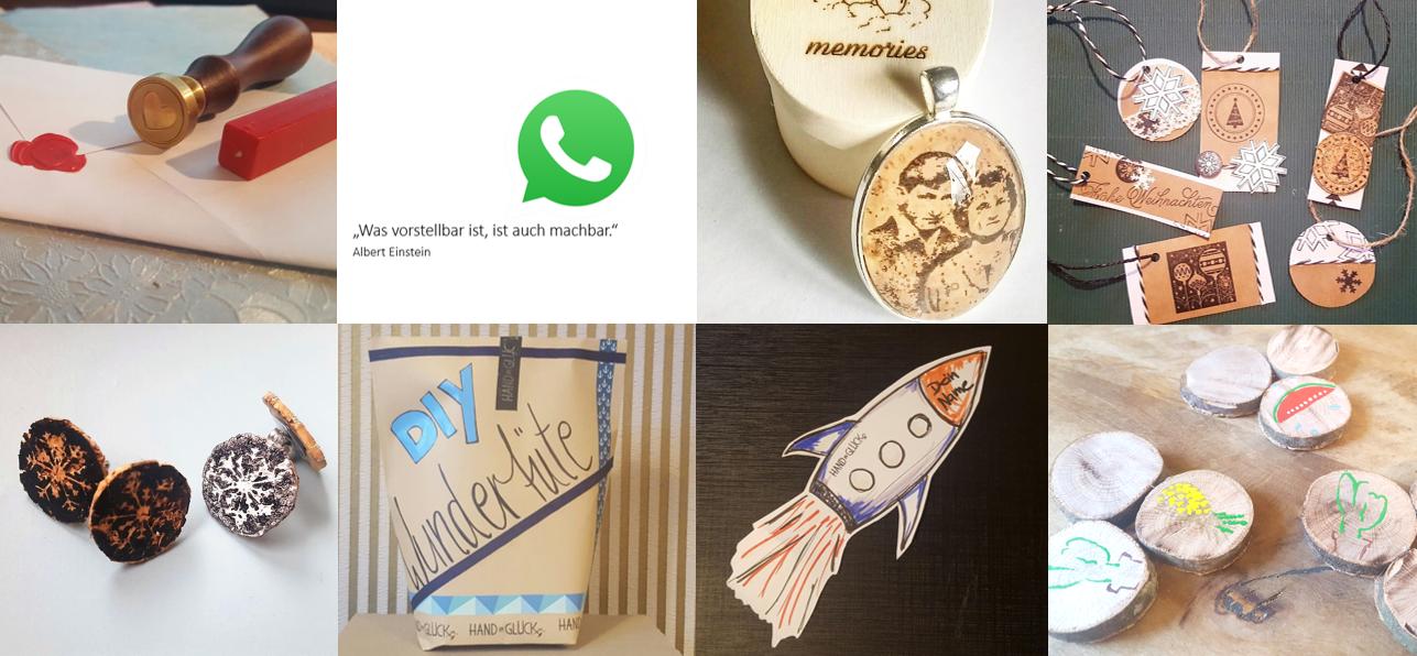 Dankeschöns und Geschenke bei Hand im Glück Crowdfunding Kampagne
