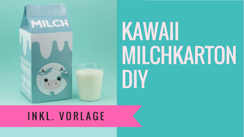 Kawaii Milchkarton DIY