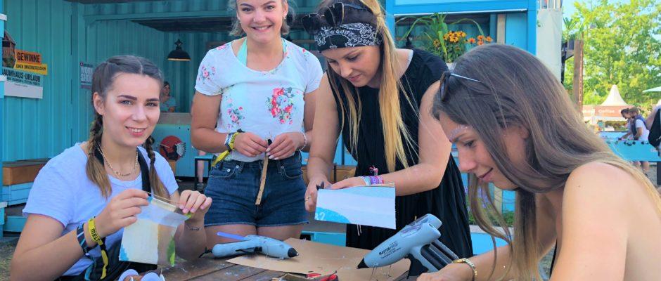 Hand im Glück Bastelworkshop auf Melt Festival