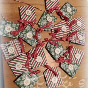 Adventkalender selber basteln aus Papier Hand im Glueck