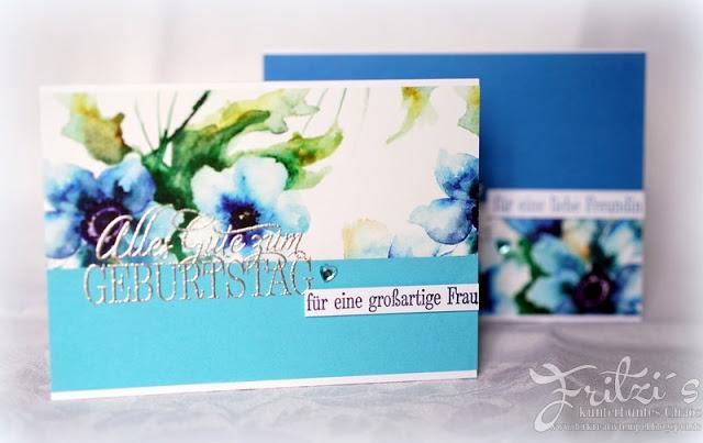 Geburtstagskarte selber machen Slit Design Karten Hand im Glueck