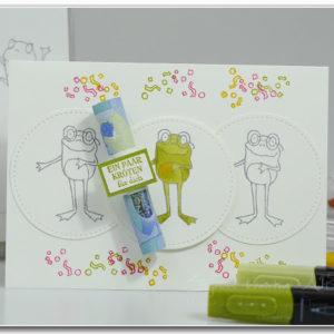 froschkoenig-geldgeschenk-verpacken selber machen DIY Hand im Glueck