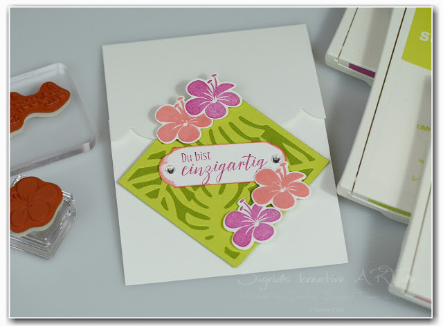 fun-fold-card-tropical-flair-stampin-up Hand im Glueck