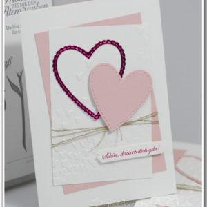 """DIY Valentinstagskarte """"Einfach herzig"""""""