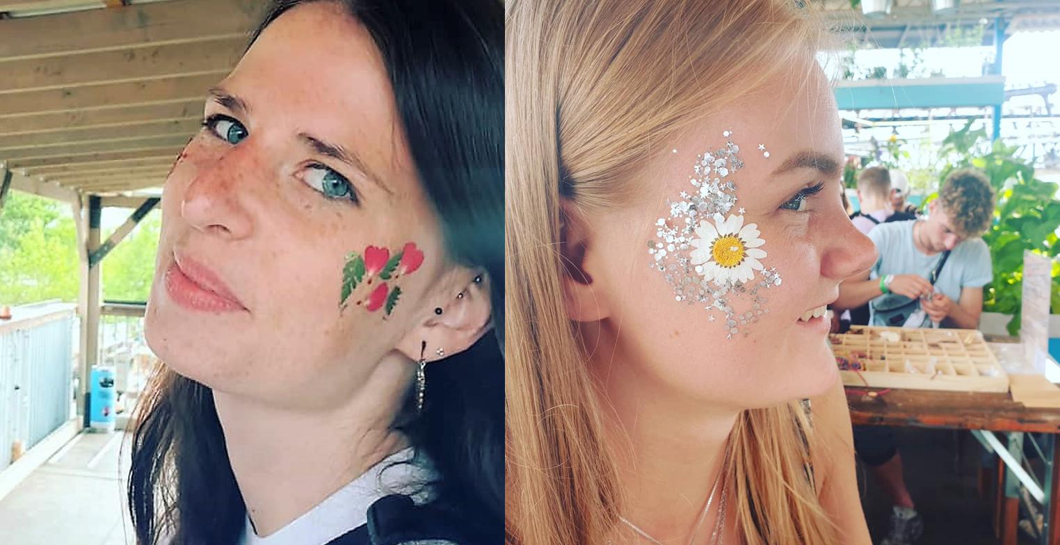 DIY Tattoos auch echten Blüten_hand im glueck.de.0