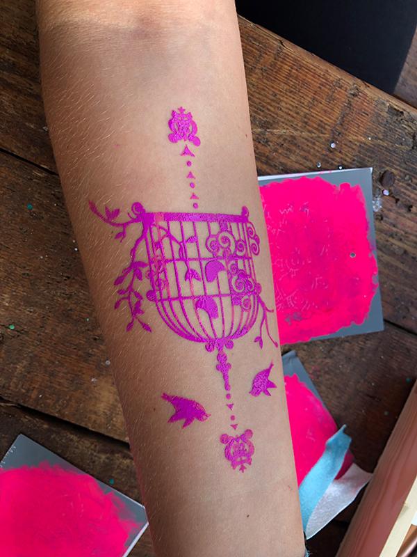 DIY filigrane Neon Tattoos selber machen_hand-im-glueck (6)