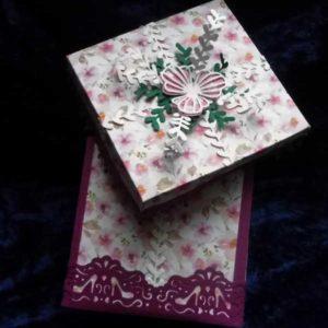 Box aus Papier selber machen Geburtstag Hand im Glueck