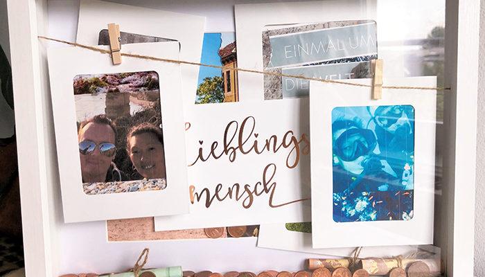 DIY Geldgeschenk Hochzeit - Reisegeld