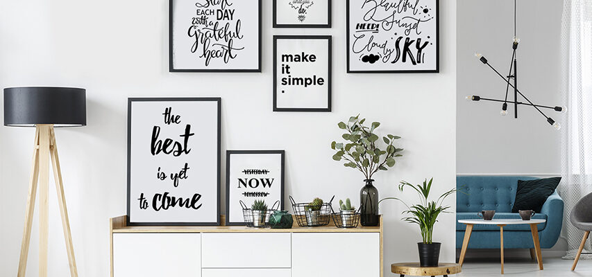 Wie gestaltet man die schönste Bilderwand? Setzen Sie auf Poster schwarz-weiß!